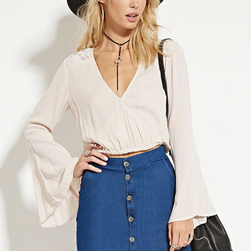 Surplice Gauze Top