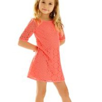 Girls Little Topanga Lace Tunic Dress - Lilly Pulitzer