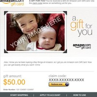 Amazon eGift Card - Upload Your Photo - Gift for You