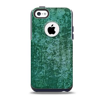 Emerald Green Choppy Pattern Skin for the iPhone 5c OtterBox Commuter Case