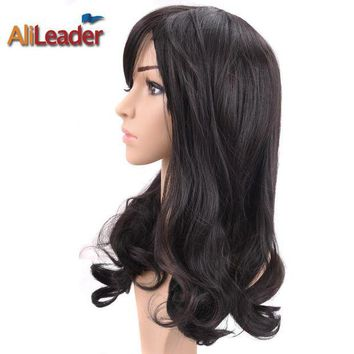 DCCKU62 AliLeader Hair Products Short Long Medium Length Wig For Black And White Women, Stock Clearance Synthetic Wigs Heat Resistant