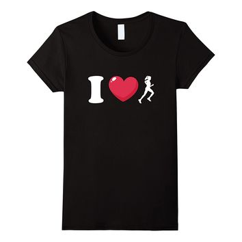 I Love Running Female Runner T-Shirt