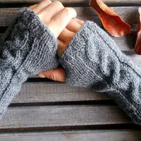 Men Gloves, Knit Mittens, Fingerless Gloves,Gray Gloves,Handmade, Gloves,Crochet,Hand Warmer,Short Knitted Gloves,Winter Gloves,Gift Ideas