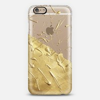 Pale Gold Rain (Transparent) iPhone 6 case by Lisa Argyropoulos | Casetify