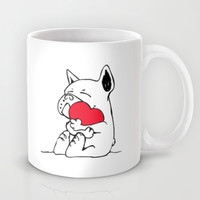 Frenchie Heart Mug by Huebucket