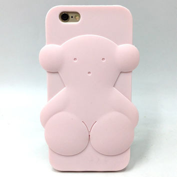 case for iphone 5 5s se 5C 6 6S plus 7 7plus Cute Tous Bear 3D Cartoon Soft Rubber Silicone Protector Accessories Cover Fundas