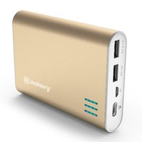 Jackery Giant+ 12,000 mAh Dual USB Portable Battery Charger & External Battery Pack for iPhone, iPad, Galaxy, and Android Smart Devices (Gold)
