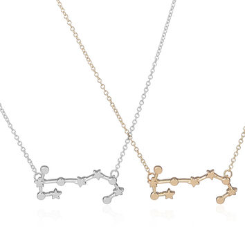 2017 New Scorpio Zodiac Signs Astrology Necklace Constellation Pendant Necklaces for Women Geometric Party Necklace -N158
