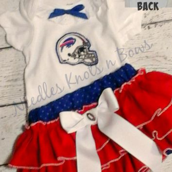 Girls Buffalo Bills Cheerleader Outfit, Baby Girls Bills Football Outfit, Toddlers, Coming Home Outfit, Baby Shower Gift