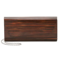 Zena Dark Wood Clutch