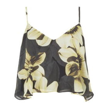 Sunflower Cropped Cami - Black