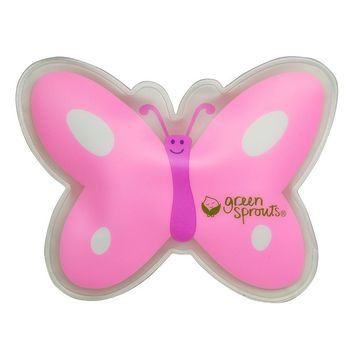 Green Sprouts by i play. Butterfly Cool Calm Press (Pink/Green)