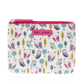 Owl Printed Ziptop Purse | Multi | Accessorize