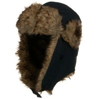 Matte Polyester Trapper Hat - Navy W28S41B $16.99