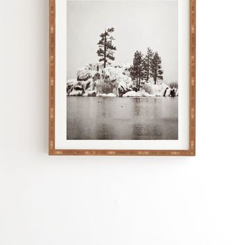 Bree Madden Snowy Lake Framed Wall Art