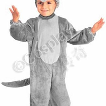 Free shipping ,high quality soft short plush children baby adult wolf  costume jumpsuit with hat Wolf grandmother clothes