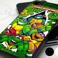 TMNT Ninja Turtle Warrior Carton Hero  - Print Hard Case - iPhone 4/4s Case - iPhone 5 Case - iPod 4 / 5 - Black - White (Option Please)
