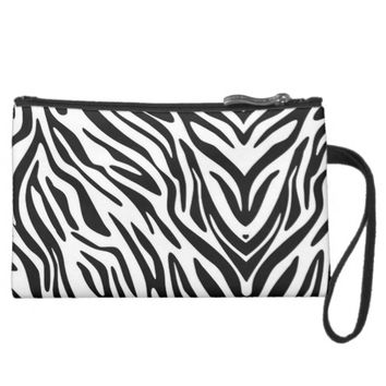 ZEBRA PRINT SUEDED MINI CLUTCH