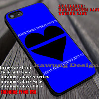 Thin Blue Line Heart iPhone 6s 6 6s+ 6plus Cases Samsung Galaxy s5 s6 Edge+ NOTE 5 4 3 #quote ii