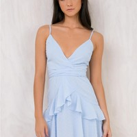 Ocean Bed Mini Dress Baby Blue
