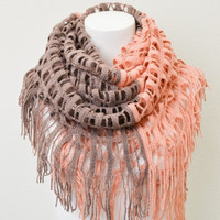 Two-tone Shredded Grid Scarf – Pink Slip Boutique