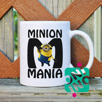 Minion Mania Coffee Mug, Ceramic Mug, Unique Coffee Mug Gift Coffee