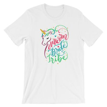 Unicorn Bride Tribe Shirt Unicorn Bridesmaid Shirts - Shipping Included