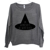 We Wear Black Lightweight Raglan Pullover American Horror Story Coven - American Apparel Ladies Sizes S, M, L