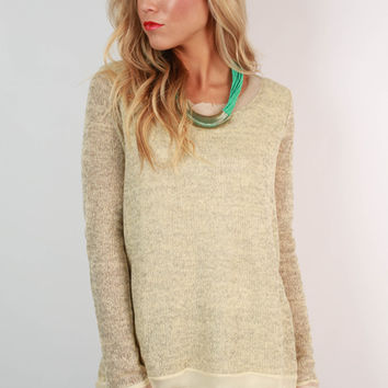 Beautiful Crossroads Sweater in Cream