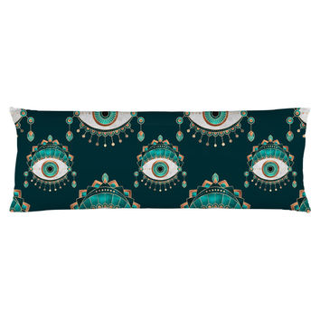Teal Eye Body Pillow
