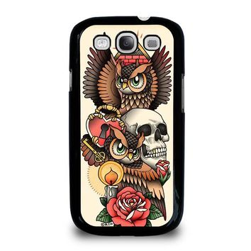 OWL STEAMPUNK ILLUMINATI TATTOO Samsung Galaxy S3 Case Cover