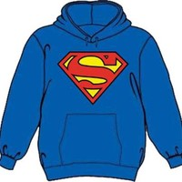 Superman Classic Logo Royal Blue Adult Hoodie Sweatshirt