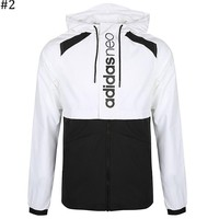 ADIDAS 2018 autumn and winter new men's hooded windproof color sports casual jacket #2