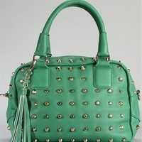 All Over Studded Bowler Bag