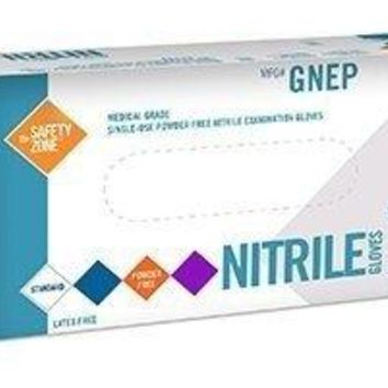 Nitrile Exam Gloves - Medical Grade, Powder Free, Latex Rubber Free, Disposable, Non Sterile