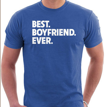 BEST BOYFRIEND EVER Personalized Typeography Tshirt Great Valentines Day Gift for boyfriend couples shirts