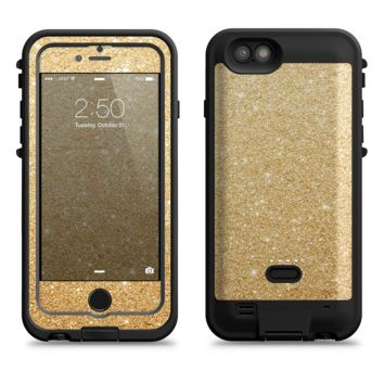 The Gold Glitter Ultra Metallic  iPhone 6/6s Plus LifeProof Fre POWER Case Skin Kit