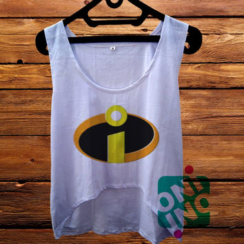 Incredibles Logo Superhero crop tank Women's Cropped Tank Top