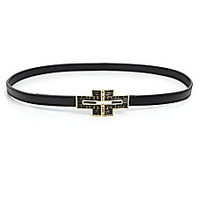 Tory Burch - Deco Logo Skinny Belt - Saks Fifth Avenue Mobile