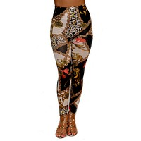 Italian Designer Inspired Print Leggings