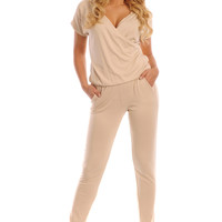Women Jumpsuit With Envelope Neck