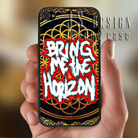 Bring Me The Horizon Logo - Photo Print for iPhone 4/4s Case or iPhone 5 Case - Black or White