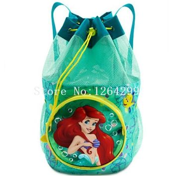 New Fashion The Little Mermaid Ariel Princess Girls PVC Backpack Kids Bags For Children