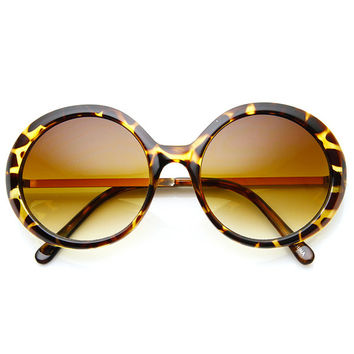 GWENDOLYN ROUND FRAME SUNGLASSES
