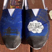 The Fault In Our Stars Custom Painted TOMS Shoes