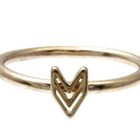 Up or Down Chevron Rose Gold Stacking Ring