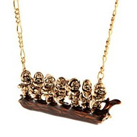 Disney Couture 7 Dwarves Necklace at asos.com