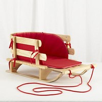 The Land of Nod: Holiday Gear: Little Red Wooden Sled in New Toys and Gifts