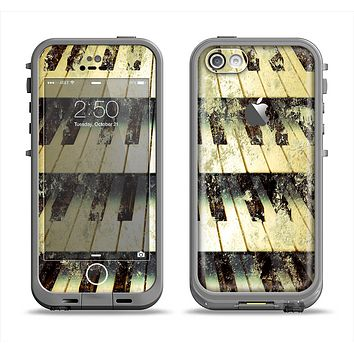 The Vintage Pianos Keys Apple iPhone 5c LifeProof Fre Case Skin Set