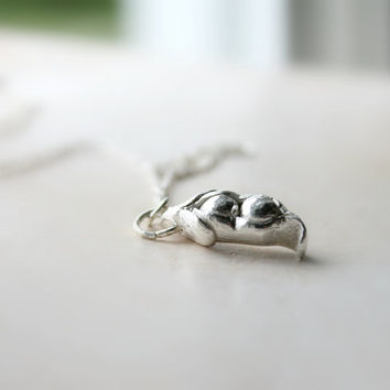 Two Peas In A Pod, Fine Silver  Organic Peas In A Pod Necklace, Eco-friendly Jewelry, Frienship pendant, Mothers Gift